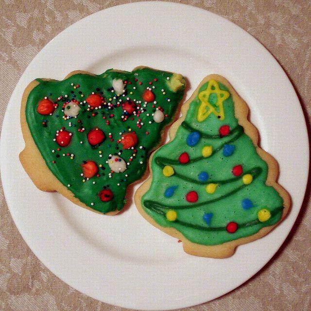 Новогоднее печенье в форме елочек - лучший подарок, сделанный в домашних условиях своими руками!