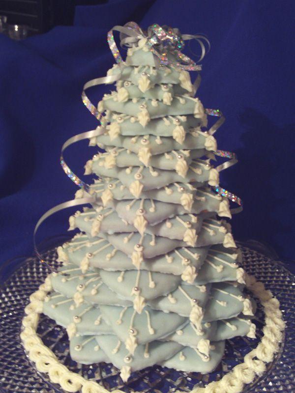Сладкая поделка на Новый год - елочка из имбирных пряников