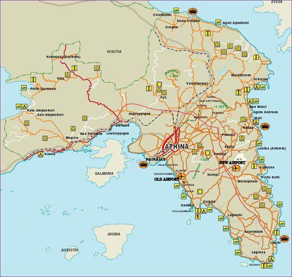 Map Athens