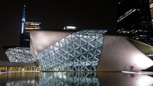 Guangzhou όπερα της zaha hadid