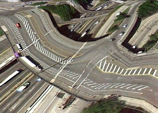 Γέφυρες ορατές από το google earth