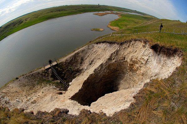 Orda underwater cave in Russia