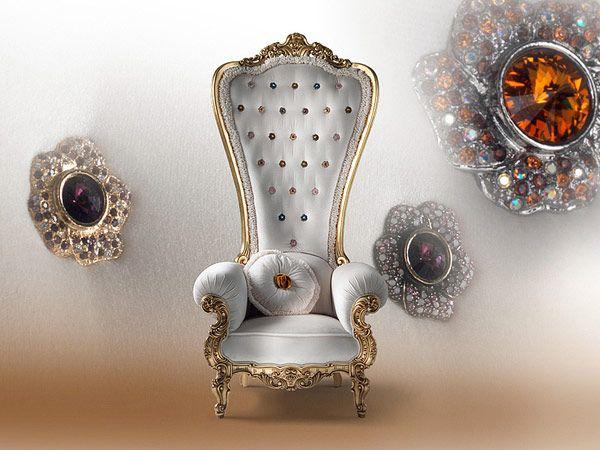Πολυθρόνα Θρόνου από την Caspani