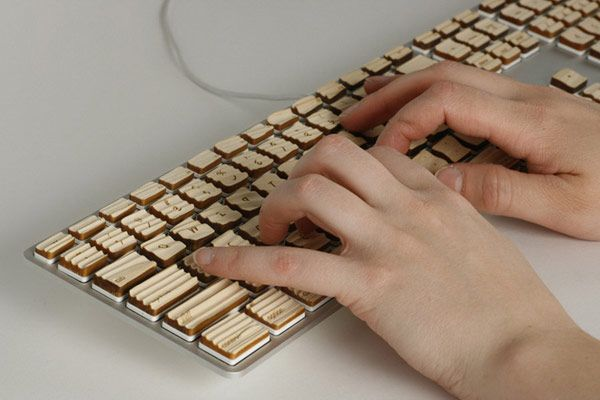 Wooden keyboard Engrain Tactile Keys