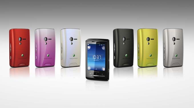 A new generation of smartphones Sony Ericsson Xperia mini