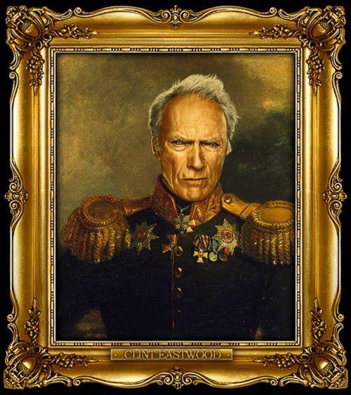 Διασημότητες παρουσιάζονται  ως ρωσική στρατηγοί - Clint Eastwood