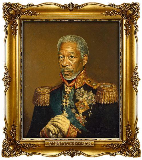 Διασημότητες παρουσιάζονται  ως ρωσική στρατηγοί - Morgan Freeman