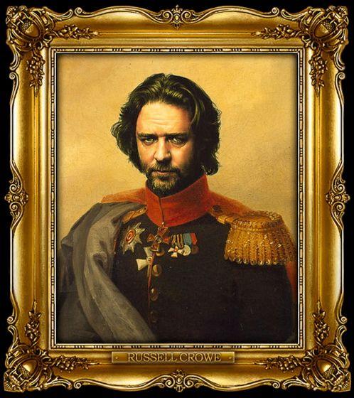 Διασημότητες παρουσιάζονται  ως ρωσική στρατηγοί - Russell Crowe
