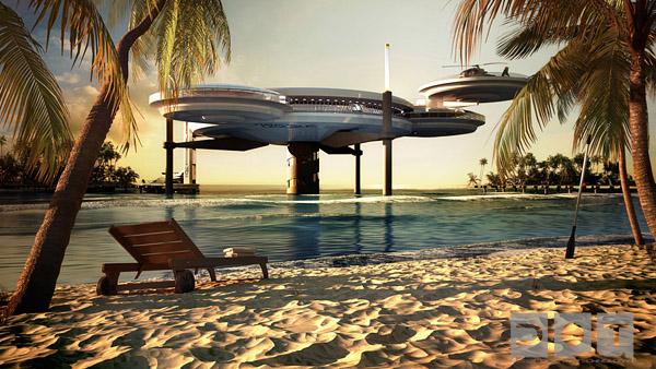 Το Water Discus Hotel ένα Υποβρύχιο Ξενοδοχείο
