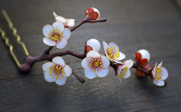 Υπέροχα Kanzashi από την Sakae