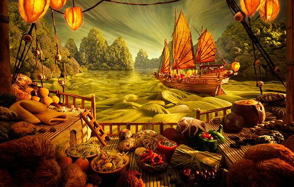 Γραφικά Τοπία Τροφίμων από τον Carl Warner