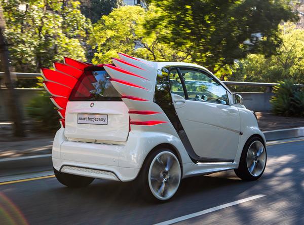 Ηλεκτρικό Αυτοκίνητο Smart ForTwo από τον Jeremy Scott