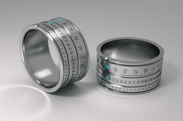 Φουτουριστικό Ρολόι Δαχτυλίδι