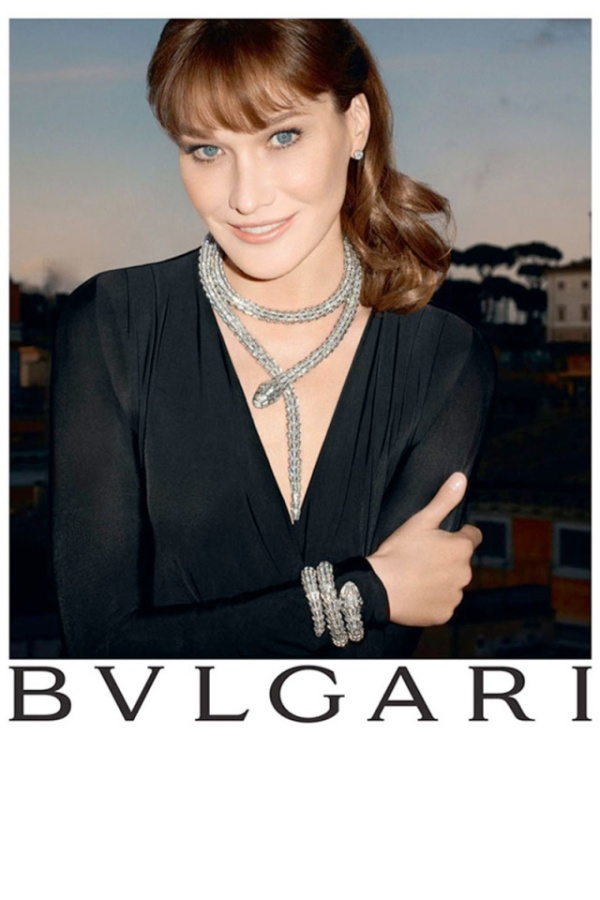 Η Carla Bruni στη διαφήμιση της Bvlgari