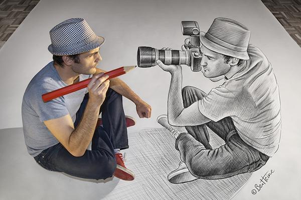 3D Ζωγραφιές από τον Ben Heine