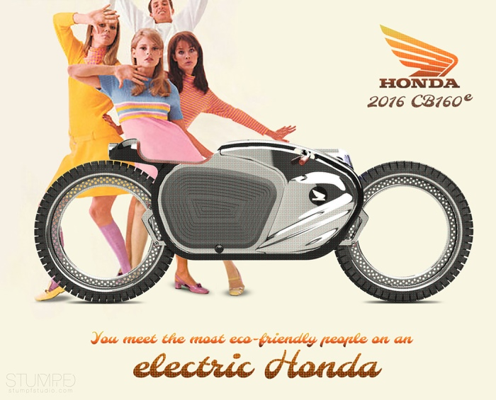 Ρετρό Μηχανή Honda CB160 με το Μοντέρνο Σχεδιασμό