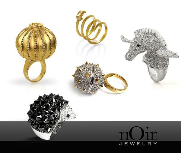 Πολυτελή δαχτυλίδια από την Noir