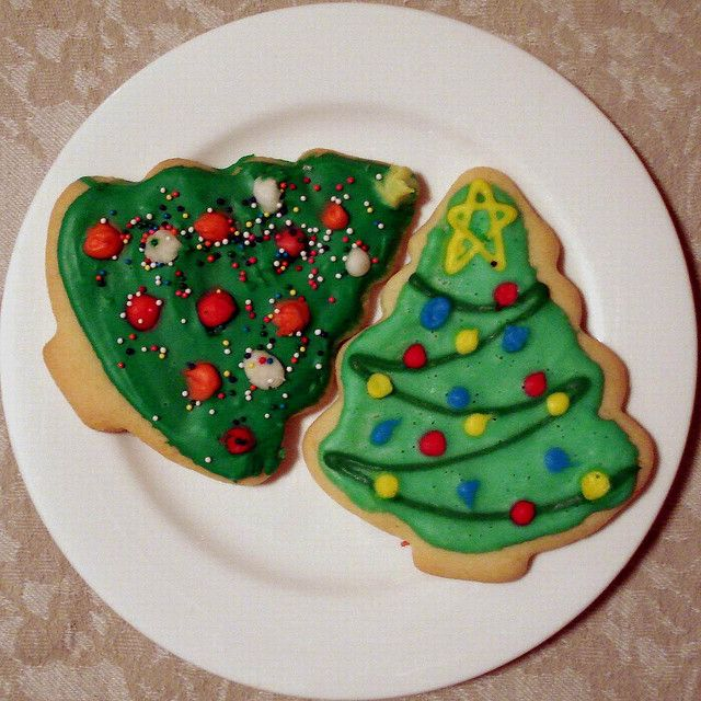 Χριστουγεννιάτικα Δέντρα Μπισκότα