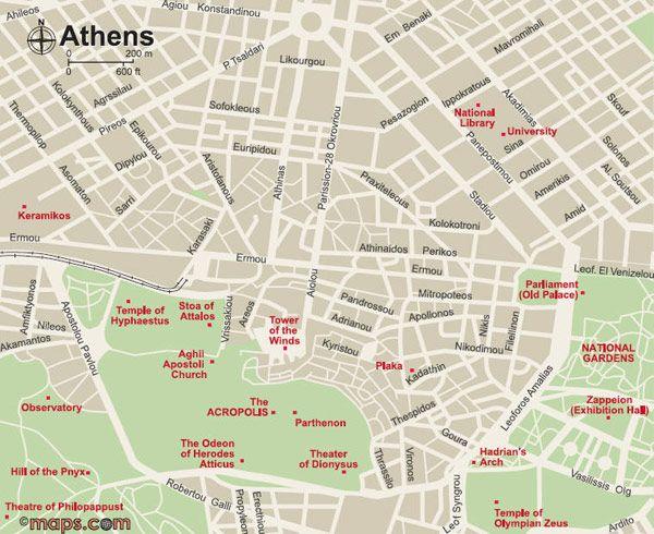 Χάρτης Αθήνας