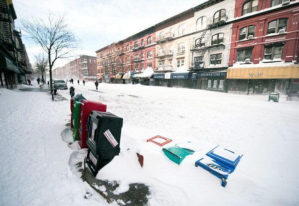 Χιόνι στη Νέα Υόρκη