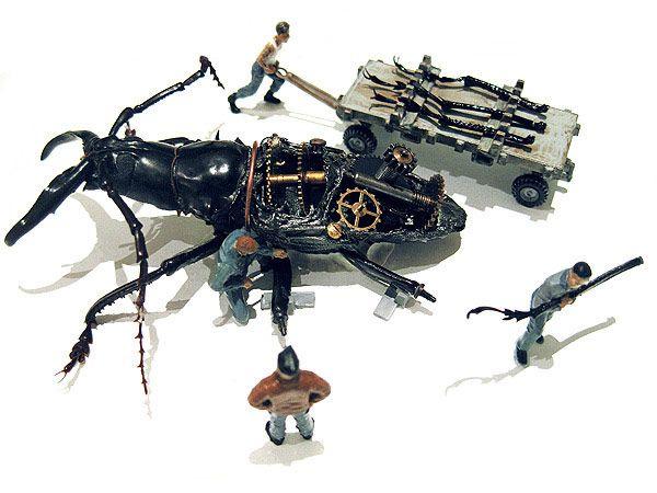 Γεμιστά Σκαθάρια Έργο Micromachina