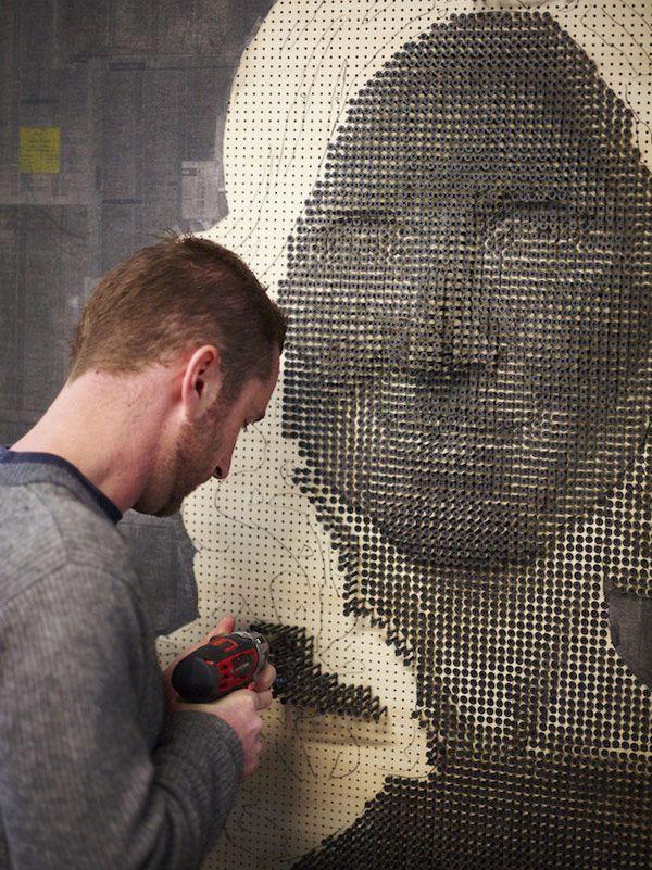 3D Πορτρέτα από Βίδες