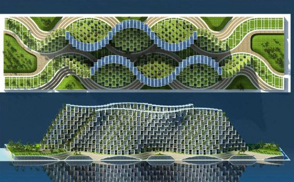 Eco Χωριό Coral Reef by Vincent Callebaut