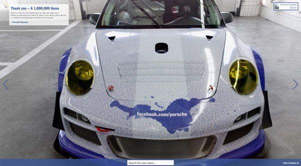 New Porsche-Facebook Car