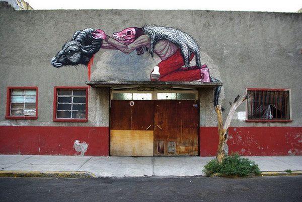 Street art ROA in Mexico