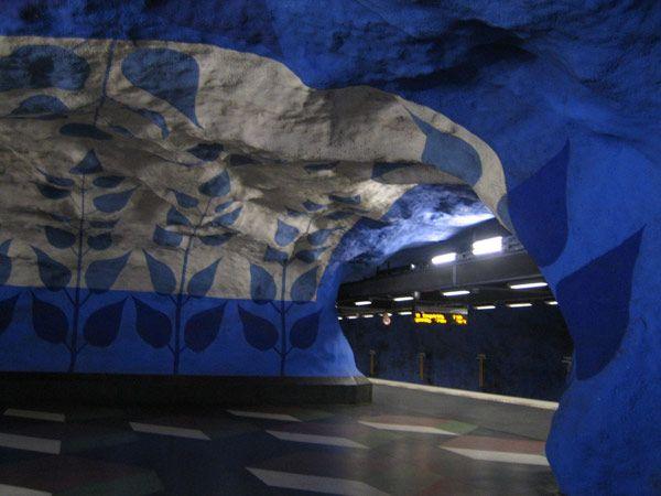 The Stockholm T-Bana Metro