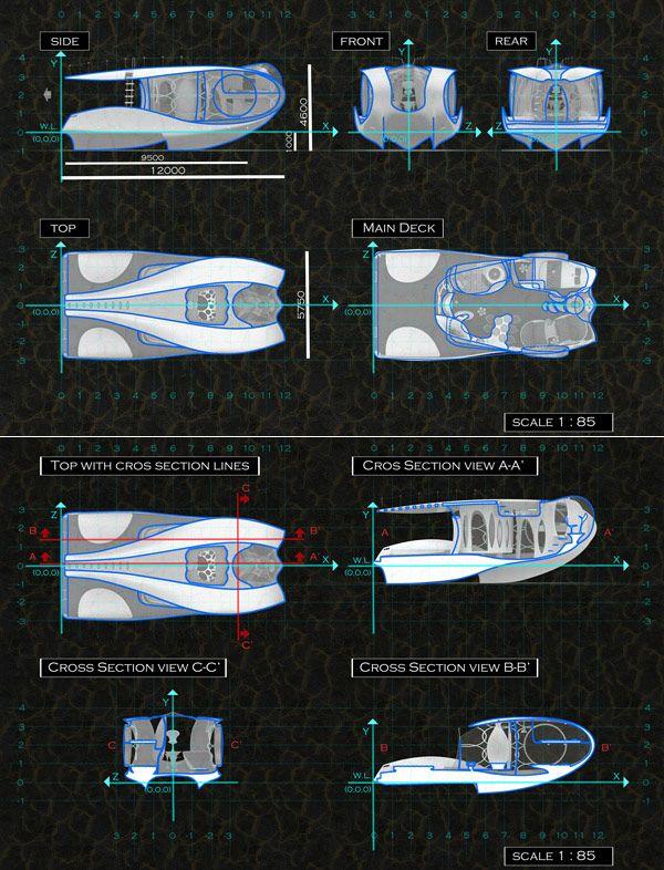 Άνετο Concept Γιοτ Tofi από τον Hyun-Seok Kim