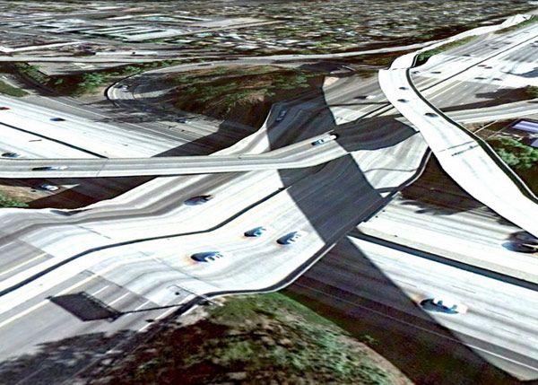 Bridges from Google Earth