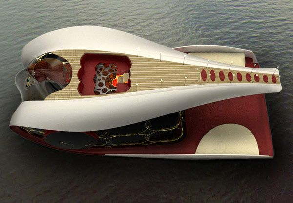 Comfortable Yacht Concept Tofi by Hyun-Seok Kim