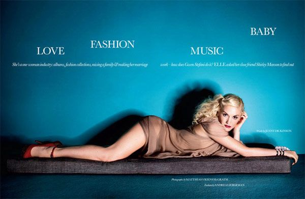 Gwen Stefani in Elle of United Kingdom