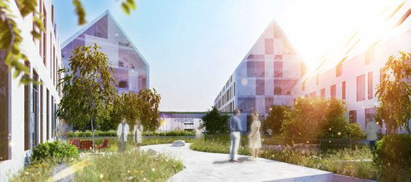 Hospital in Odense by Henning Larsen Architects