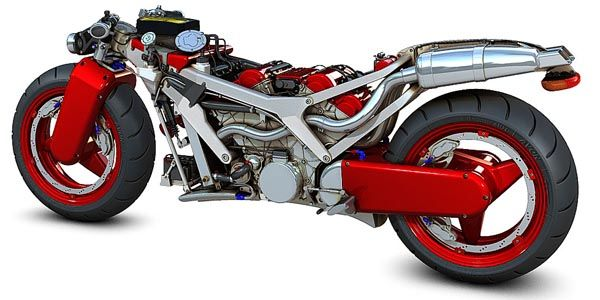 New Ferrari V4 Motorcycle