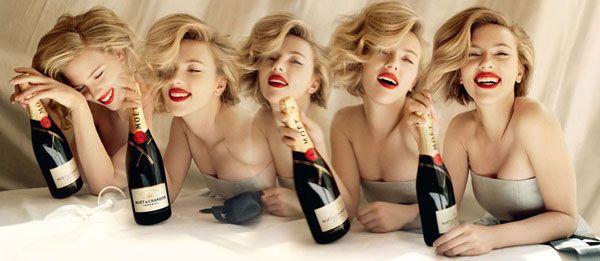 Scarlett Johansson Moet Chandon