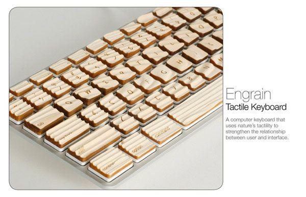 Ξύλινο πληκτρολόγιο αφής Engrain Tactile Keys