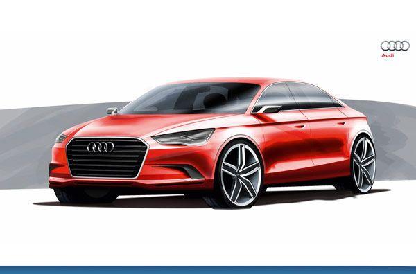 Concept new Audi A3 Notchback