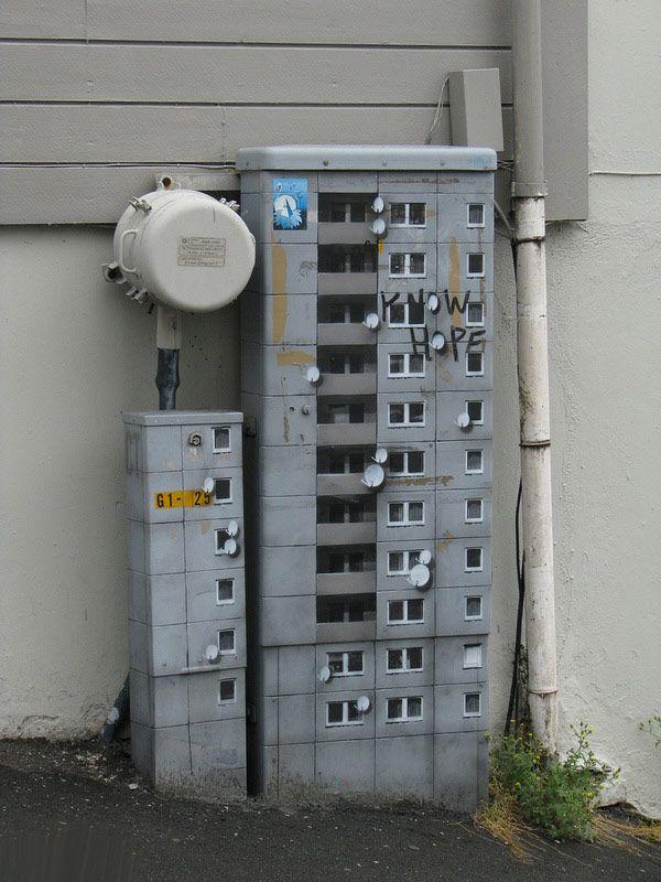 Street Art Skyscrapers EVOL