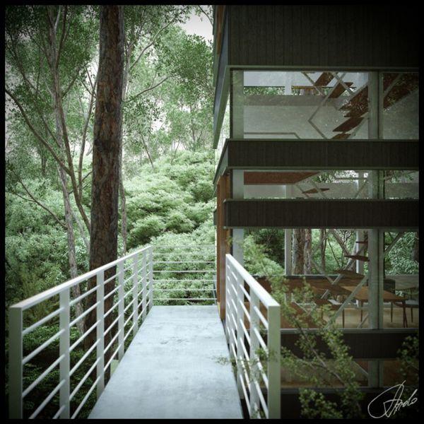 Ιαπωνέζικο σπίτι στο δάσος από το στούντιο Ando