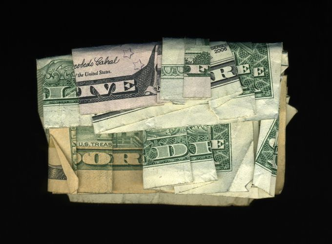 Collages of dollars Dan Tague