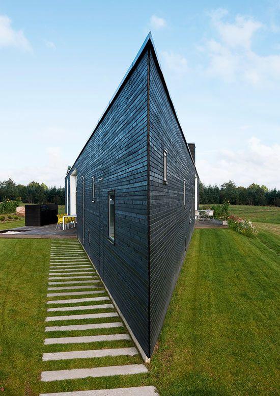 Corner house in Denmark