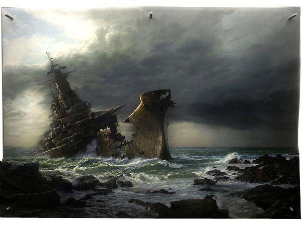 Dramatic Crash Series by Jonathan Wateridge