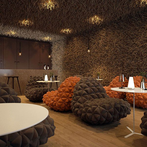 Exciting Twister Restaurant by Makhno Workshop