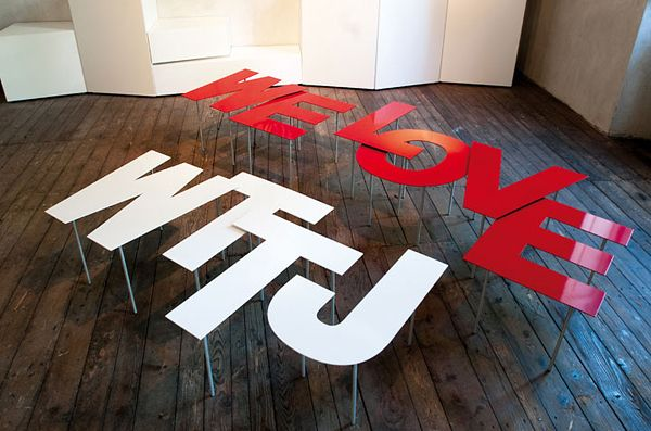 Fontable - Τραπεζάκια από γράμματα της αλφαβήτου
