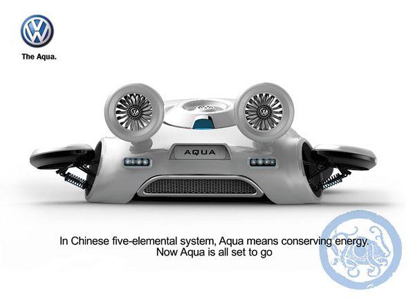 Futuristic Volkswagen Concept Car – Aqua