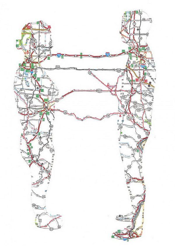 Πορτρέτα από οδικούς χάρτες της Nikki Rosato