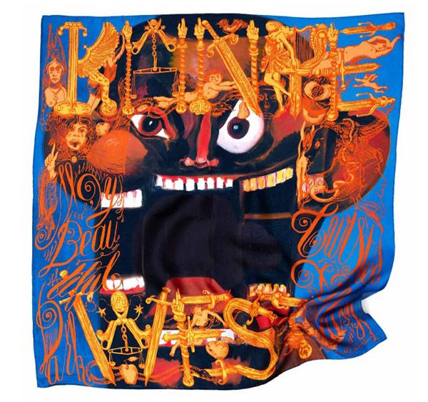 Silk scarves from Kanye West