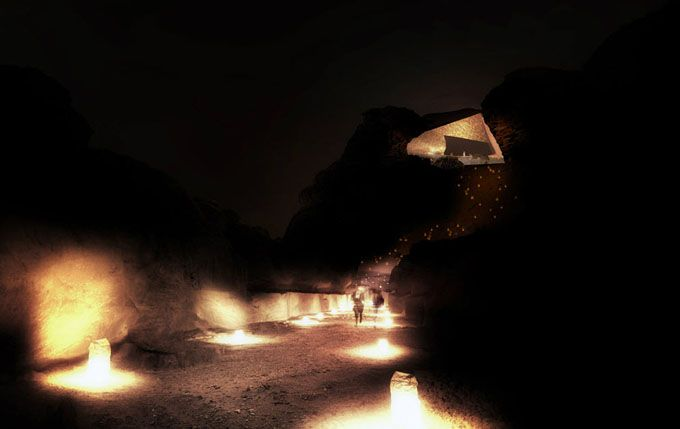 The hotel complex Wadi Rum Resort